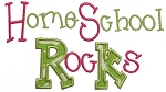 HomeSchool Rocks Applique