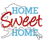 Home Sweet Home Alaska Embroidery