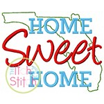 Home Sweet Home Florida Embroidery
