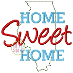 Home Sweet Home Illinois Embroidery