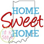 Home Sweet Home Indiana Embroidery