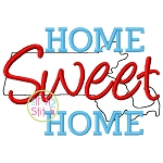 Home Sweet Home Massachusetts Embroidery