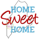 Home Sweet Home Maine Embroidery