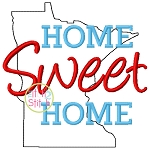 Home Sweet Home Minnesota Embroidery