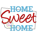Home Sweet Home Montana Embroidery
