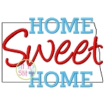 Home Sweet Home North Dakota Embroidery
