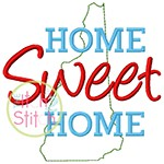 Home Sweet Home New Hampshire Embroidery