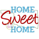 Home Sweet Home Oklahoma Embroidery