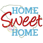 Home Sweet Home South Carolina Embroidery