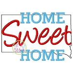 Home Sweet Home South Dakota Embroidery