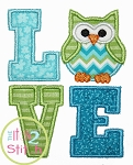 Owl LOVE Applique
