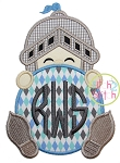 Knight Monogram Peeker Applique