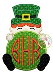 Leprechaun Boy Monogram Peeker Applique