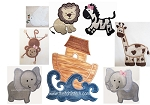 Noah's Ark Set Applique