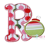 Christmas Ornament Alpha Applique Font