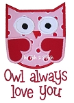 Owl Always Love U Applique