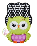 Owl Frankenstein's Bride Applique