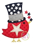 Patriotic Bird Applique
