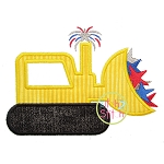 Patriotic Dozer Applique