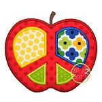 Peace Apple Applique