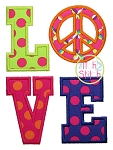 Peace Sign LOVE Applique