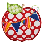 Apple Pennant Applique