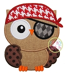 Owl Pirate Applique