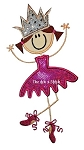 Princess Ballerina Applique