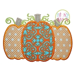 Pumpkin Trio Applique