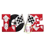 Racing Love Applique