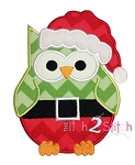 Santa Owl Applique