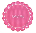 Scalloped Circle Double Applique Patch