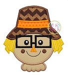 Scarecrow Glasses Applique