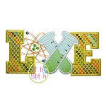 Science Love Applique