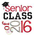 Senior Class of 2016 Embroidery