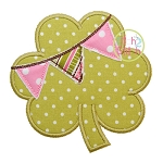 Shamrock Pennant Applique