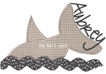 Shark in Water Applique