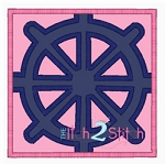 Ship Wheel Box Applique