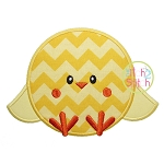 Sitting Chick Boy Applique