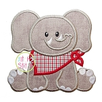 Sitting Elephant Mascot Applique