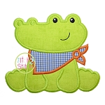 Sitting Gator Mascot Applique