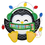 Sitting Penguin Lights Applique