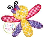 Sleepy Dragonfly Applique