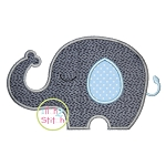 Sleepy Elephant Boy Applique