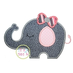 Sleepy Elephant Girl Applique
