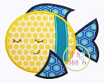 Sleepy Fish Applique