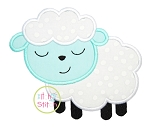 Sleepy Lamb Boy Applique