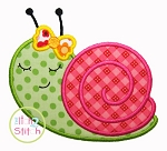 Sleepy Snail  Applique