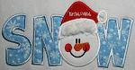 SNOW Applique