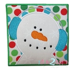 Snowman Box Applique